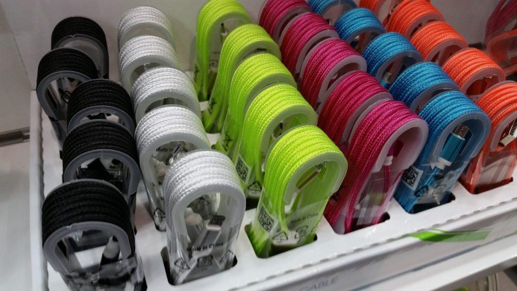 Cabos USB coloridos