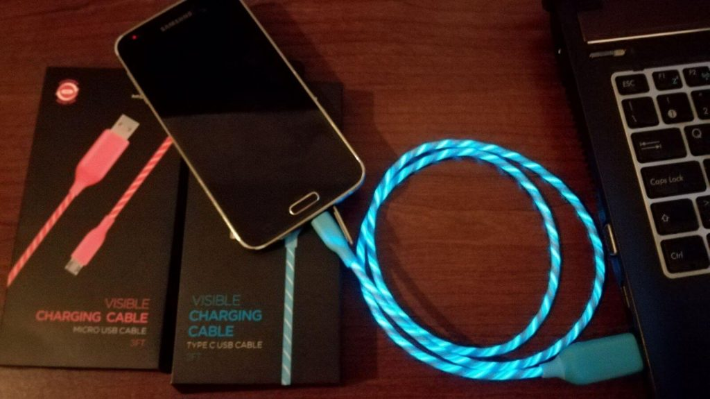 Cabo Micro USB luminoso